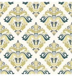 Damask Seamless Pattern Orient Coloful Background vector