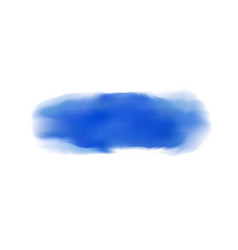 dark blue realistic watercolor brush strokes on vector image