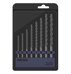 Drill bits box Color vector