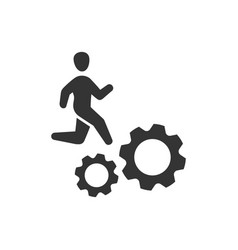 Employee working icon vector