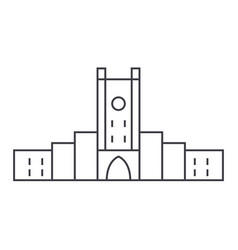 fortress line icon sign on vector image