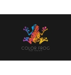 Frog logo Color frog logo Creative logo design vector image
