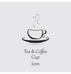 Greyscale Icon of Cup vector image