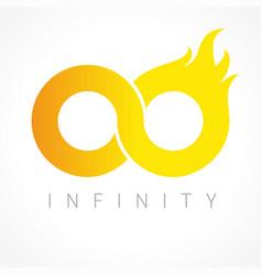 Infinity flame logo vector