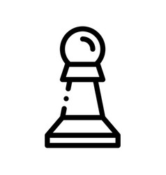 interactive kids game chess thin line icon vector image