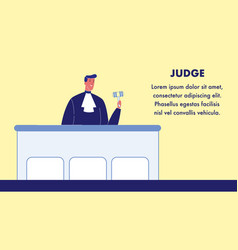 Judge web banner template with text space vector