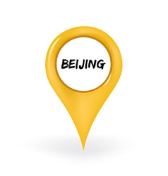 Location Beijing vector image
