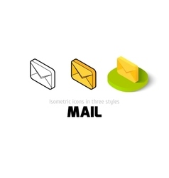 Mail icon in different style vector