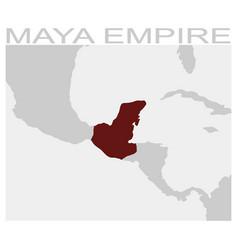 map of the maya empire vector image
