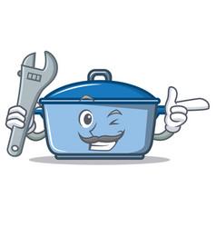 Mechanic kitchen character cartoon style vector