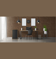 modern home office workplace interior vector image