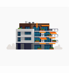 modern living apartment building urban style vector image