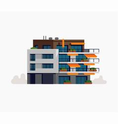 Modern living apartment building urban style vector