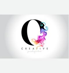 O vibrant creative leter logo design vector
