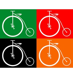 old bike vector image