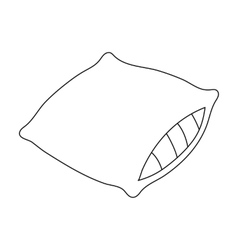 Pillow icon in outline style isolated on white vector image
