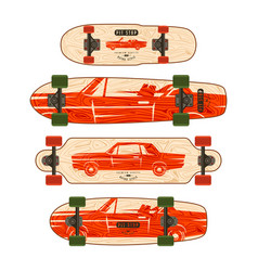 Print for longboard vector
