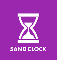 Sand clock icon vector