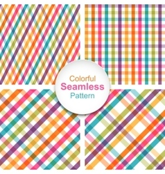 Set colorful striped seamless patterns vector