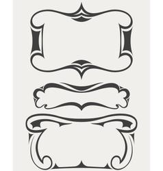 Set frames in art-deco style vector