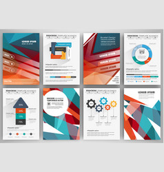 set of brochure design templates and infographics vector image