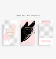set of design templates for stories of instagram vector image
