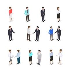 Set of talking people vector image