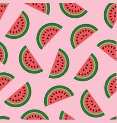 Slices watermelon fresh summer pattern vector