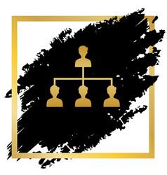 Social media marketing sign golden icon vector