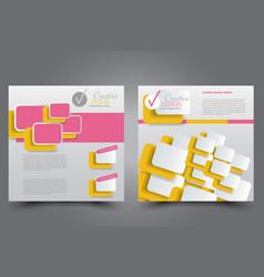 square flyer template brochure design vector image vector image