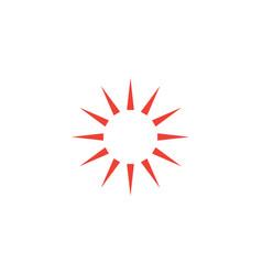 sun hot icon graphic design template vector image