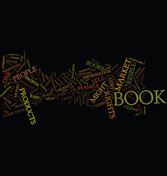 The perfect book and where to find it text vector