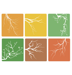 tree branch buttons icons vector image