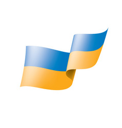 ukraine flag on a white vector image