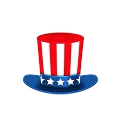 Uncle Sam Hat for American Holidays Isolated on vector image