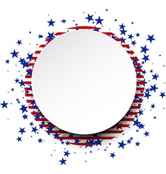 USA round background vector image