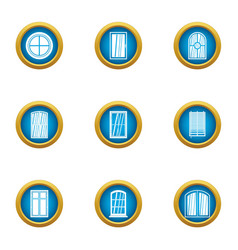 viewport icons set flat style vector image