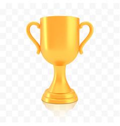 Winner cup award golden trophy logo isolated vector