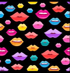 wonderful pattern lips vector image