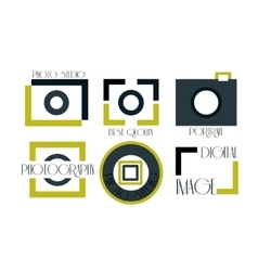 collection of photography logo vector image
