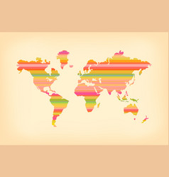 color stripe old world map concept vector image vector image