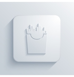 modern French fries light icon vector image