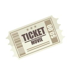 movie film ticket vector image