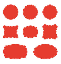 set of blank labels and badges vector image