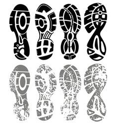 shoe print grunge vector image vector image