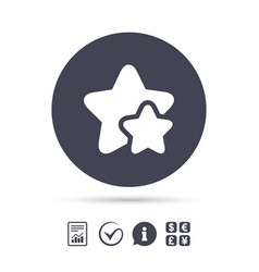 star icon favorite sign vector image vector image