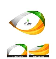 Abstract geometric water drop design vector image vector image