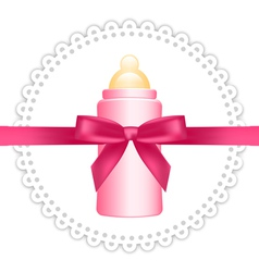 background with baby bottle vector image vector image