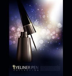 Cosmetic premium realistic eyeliner poster vector