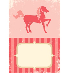 Poster with horse vector image vector image